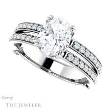 oval cut engagement rings oval cut engagement ring setting gtj902 oval w gerry the jeweler