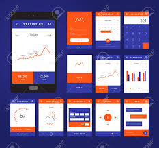 ui layout ui ux and gui template layout for mobile apps statistic dashboard