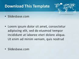 symbolic world map powerpoint template slidesbase