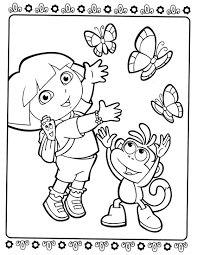 colouring pages dora coloring design 22090 bestofcoloring com