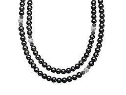 swarovski black necklace images 48 in black pearl necklace with white and black swarovski crystal jpg