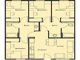 4 bed house plans small 4 bedroom house plans plan 1656 one story 16561 planskill 9