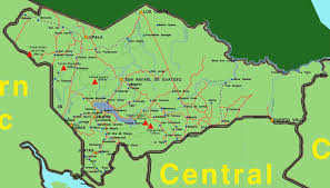Physical Map Of Central America by Detailed Northern Plains Region Map Of Costa Rica Central America