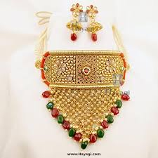 pearls beads necklace images Rajwadi choker pearls beads necklace set online hayagi jpg