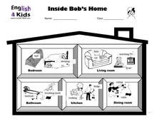 esl kids worksheets home and prepositions worksheets