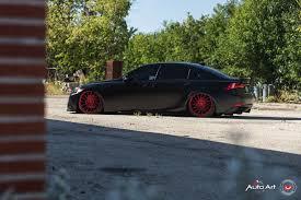 slammed lexus is250 black slammed lexus is f with air suspension and red vossen wheels