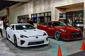 lfa lexus red lexus lfa and the nissan gtr youtube