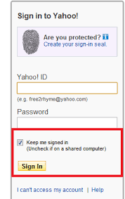 Yahoo Sign In Create A Desktop Shortcut To Access Yahoo Mail