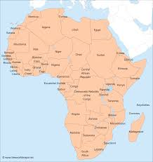Quick Maps Africa Map And Country Names Africa Map