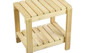 Umbrella Hole Ring Set by Patio U0026 Pergola Small 2 Tier Oak Wood Patio Table Unfinished