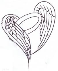 angel wings with halo drawings free download clip art free