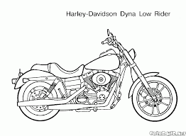 coloring page harley davison