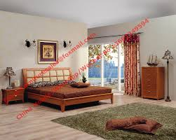 apartment bedroom furniture suite by leather pad and cherry solid