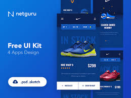 shoes ecommerce mobile app ui kit free psd download download psd