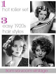 easy 1920s hairstyles 1 hot roller set 3 easy 1920s hair styles from va voom vintage