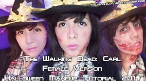 Carl Walking Dead Halloween Costume Walking Dead Carl Female Version 3 Makeup Halloween