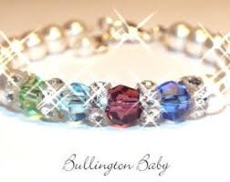 mothers bracelets with birthstones baby jewelry baby bracelets birthstone by chellebullington on etsy