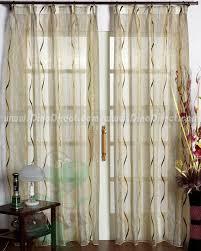 Pinch Pleated Sheer Draperies King Kurtanin Fashion Stripe Pattern Tailored Bedroom Sheer