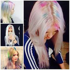 rainbow roots hair trend for 2017 hair pinterest hair trends