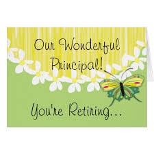 retirement card school principal retirement card zazzle