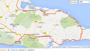 Cuba World Map by East Cuba Cycling Route Faraway Visions
