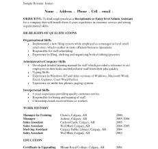 resume objective statement exles receptionist stirring administrative objective fore template assistant is one