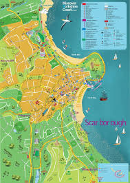 Yorkshire Map Discover Yorkshire Coast Map Of Scarborough