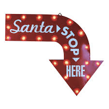 gemmy industries santa stop here christmas sign 34646