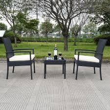 amazon com tangkula 3 pcs outdoor rattan patio furniture set