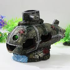 ship aquarium ornament wreck sunk submarine fish tank waterscape