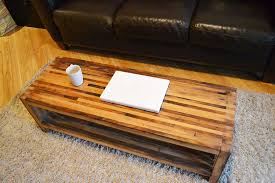 furniture vintage modern coffee table with natural wooden
