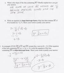 slope of a line worksheets writing equations for parallel lines students are asked to