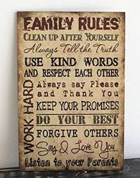 wood sign wall primitive wall decor wood sign family