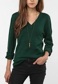 green sweater green sweater black necklace stitch fix
