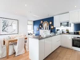 cuisine blanche mur bleu cuisine bleu plus de 50 suggestions de