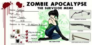 Zombie Apocalypse Meme - the zombie apocalypse the survivor s meme year zero survival