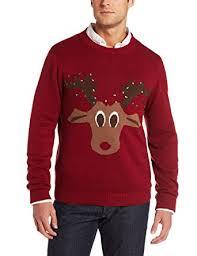 alex stevens men u0027s reindeer lights ugly christmas sweater at