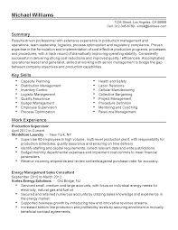 Production Manager Cover Letter Resume For Mike J Erikson International Sales Distribution Exper