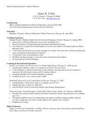 Physical Education Teacher Resume Sample by Teacher Resume Illinois