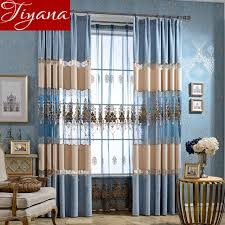 geometric curtains embroidered voile curtinas window modern living