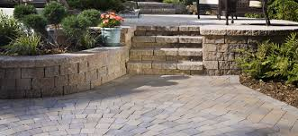 Building A Raised Patio With Retaining Wall by Concrete Retaining Wall U0026 Patio Pavers Install It Direct