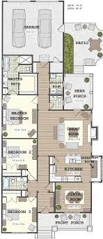 3 house plans narrow house with possible open floor plan for the home