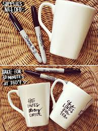 his her sharpie mug diy u2013 a beautiful mess
