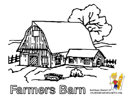 barn coloring pages getcoloringpages com