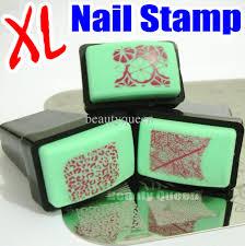 new xl square nail stamp u0026amp scraper rectengular rubber stamper