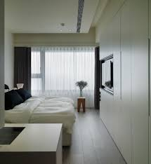 Bedroom Fitted Wardrobes Modern Bedroom With Fitted Wardrobe And Using Multiple Curtains