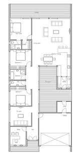 Narrow Townhouse Floor Plans Modern House To Narrow Lot Closed Courtyard Garage Three