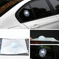 subaru window decals car suv 3d golf ball hit glass window stickers body adhesive