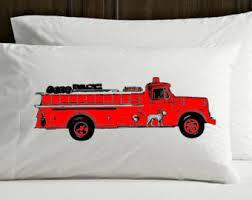 fire truck bedroom etsy
