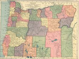 State Map Of Oregon by The Usgenweb Archives Digital Map Library Hammonds 1910 Atlas